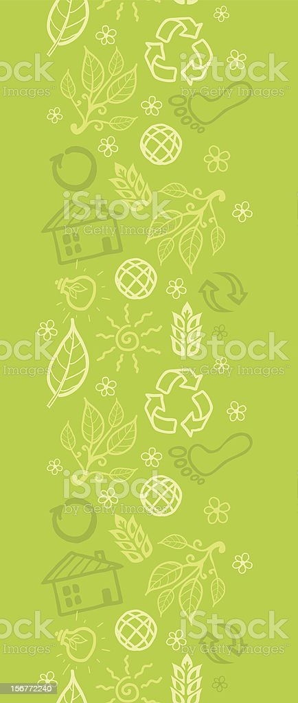 Green Ecological Vertical Seamless Pattern Ornament royalty-free green ecological vertical seamless pattern ornament stock vector art & more images of abstract
