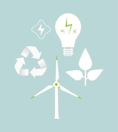 green ecology and save energy concept