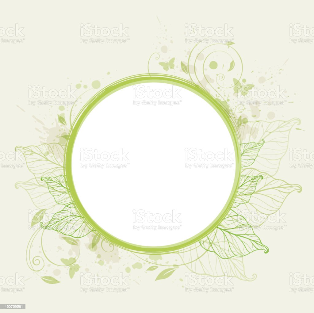 Green ecology banner vector art illustration