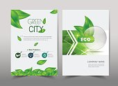 Green ecology design on background