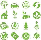 Green Ecology Icons II