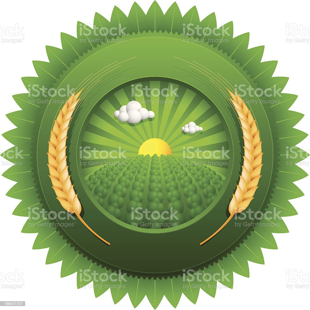 green emblem royalty-free green emblem stock vector art & more images of agriculture