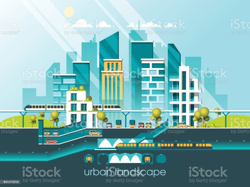 Green Energy And Eco Friendly City Modern Architecture Buildings
