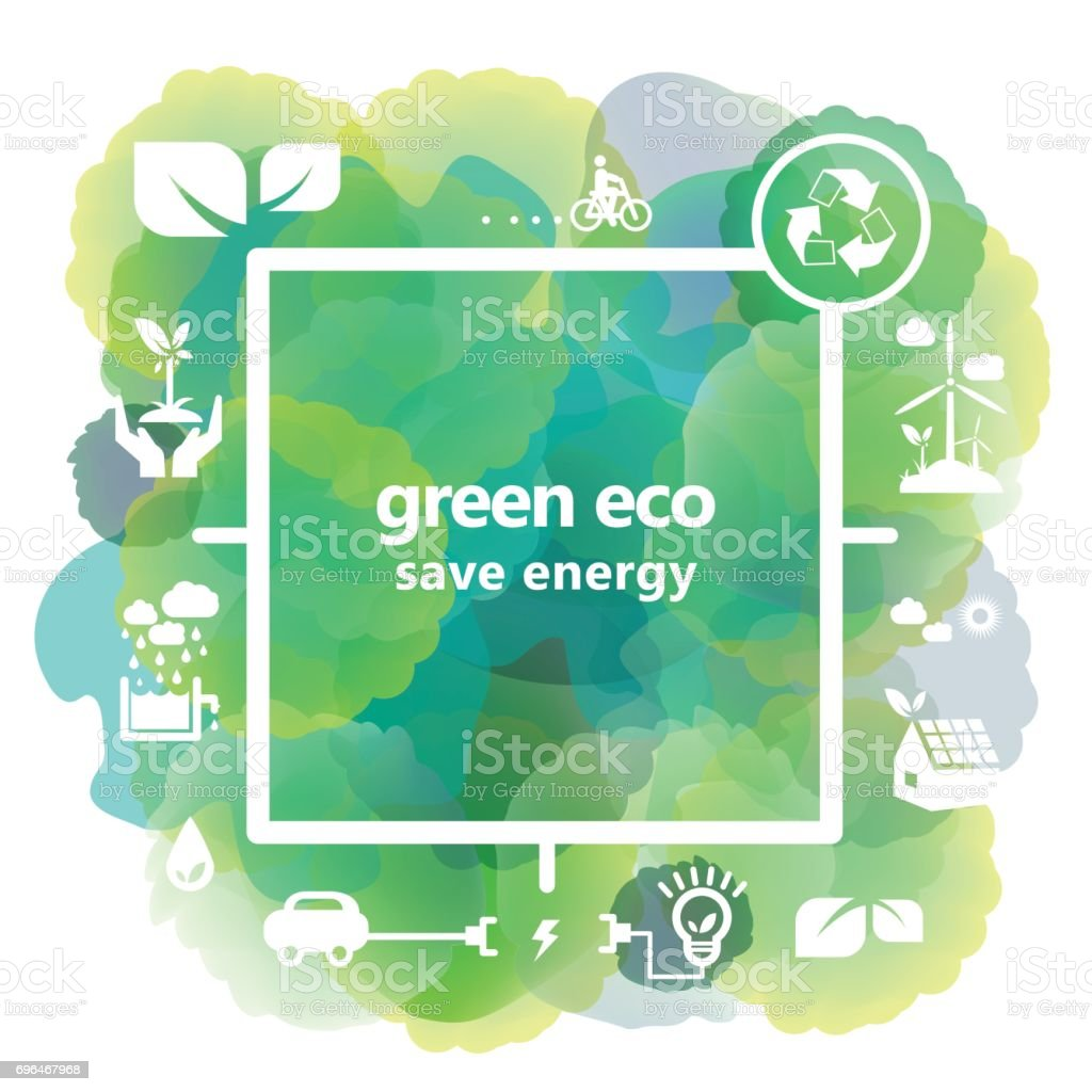 Green Energy and recycle concept illustrations vector art illustration