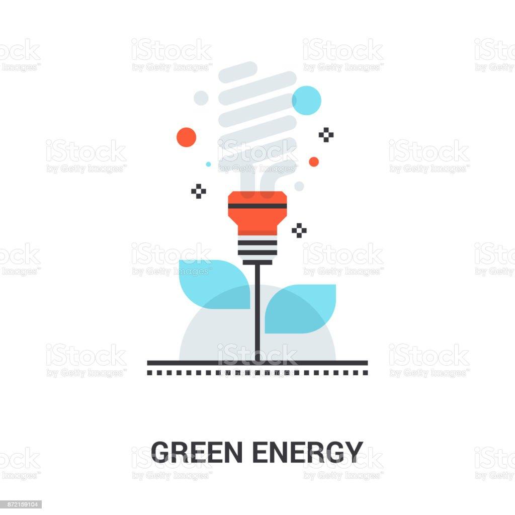 green energy concept vector art illustration