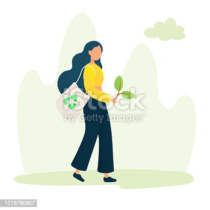 istock Green Energy, Ecology Concept Design Vector Illustration. 1215780907