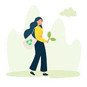 istock Green Energy, Ecology Concept Design Vector Illustration. 1215780907