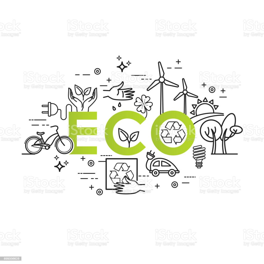 green energy ecology lifestyle recycle vector design template in