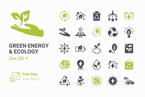 green energy & ecology - energy saving stock illustrations, clip art, cartoons, & icons
