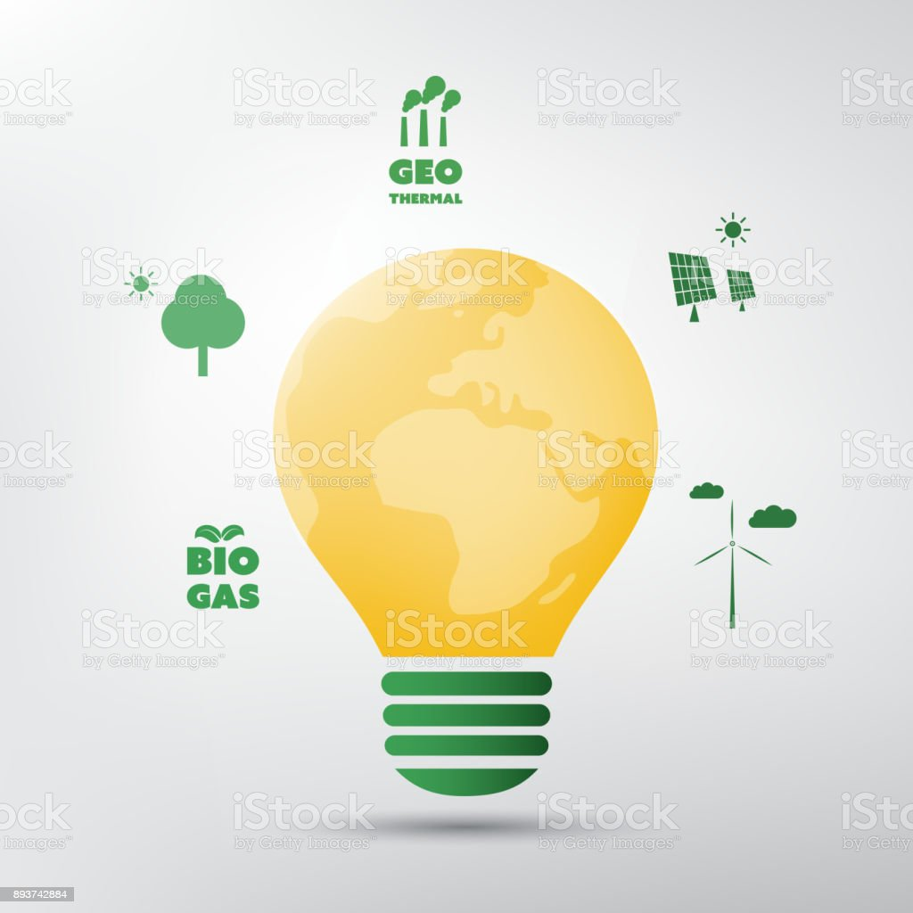 Green Energy Global Warming Ecological Problems And Solutions Light