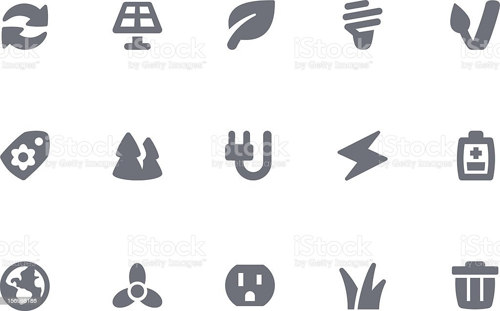 Green Energy icons royalty-free stock vector art