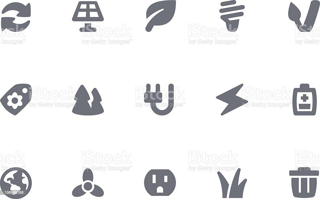 Green Energy icons vector art illustration