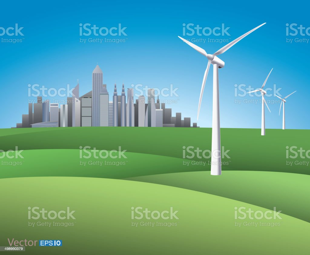 Green energy supply to city royalty-free green energy supply to city stock vector art & more images of architecture