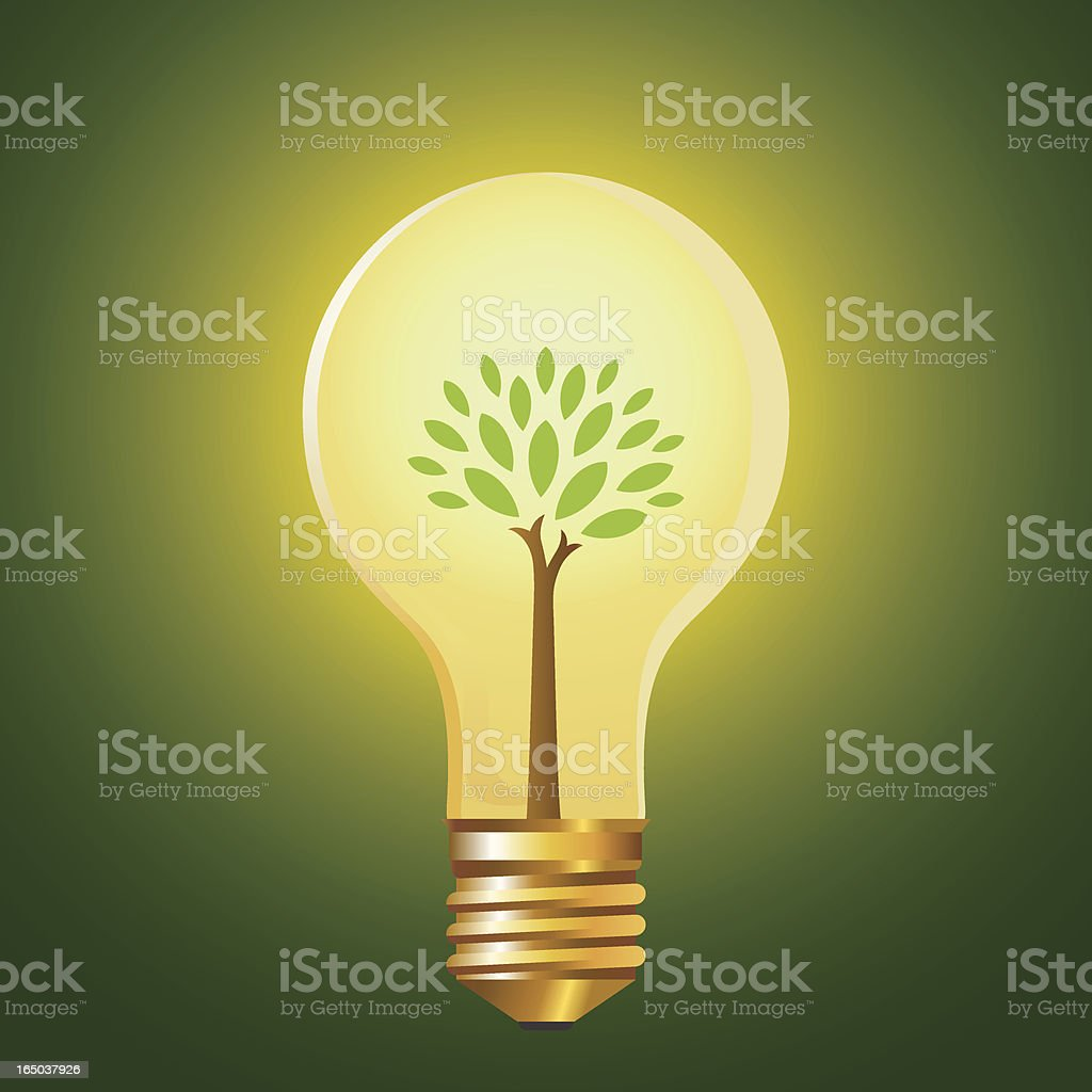 Green Energy Vector illustration - AI, EPS and highres JPG files included. Brightly Lit stock vector