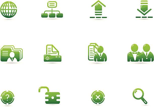 green environment icon | verde series - byteandpixel stock illustrations