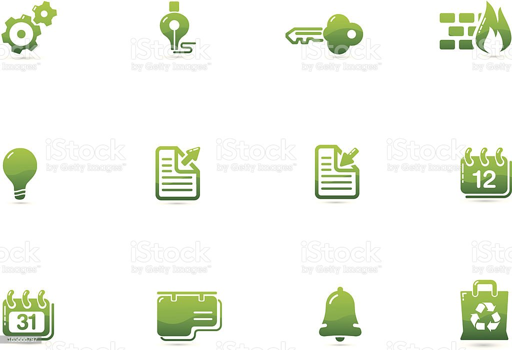 Green Environment Icons | Verde Series vector art illustration