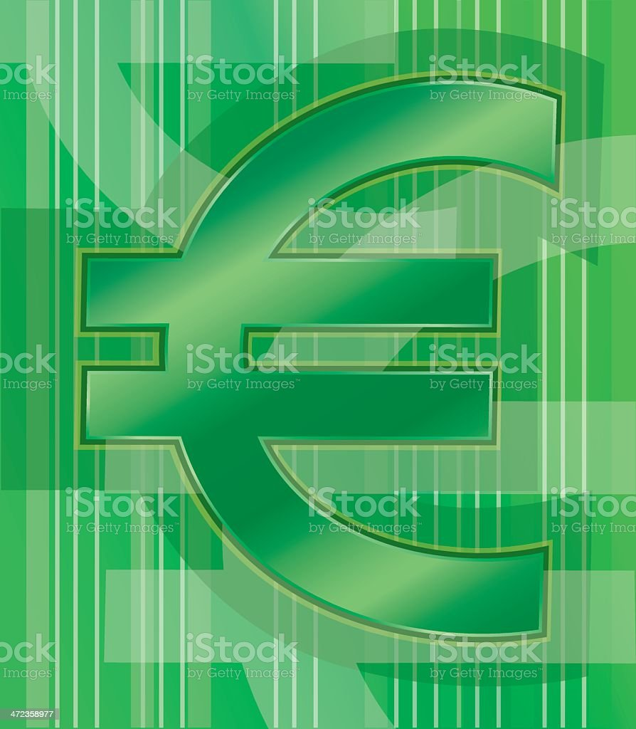 Green Euro Sign royalty-free green euro sign stock vector art & more images of banking