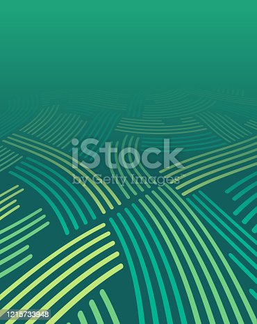 Green abstract fields background farming horizon.
