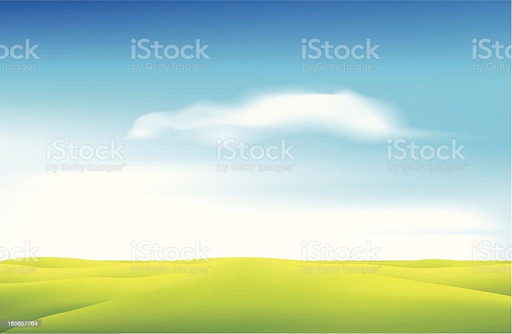 Green field - VECTOR royalty-free stock vector art