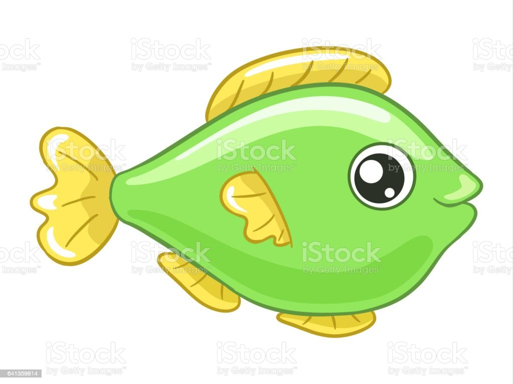 green fish cartoon stock vector art 641359814 istock