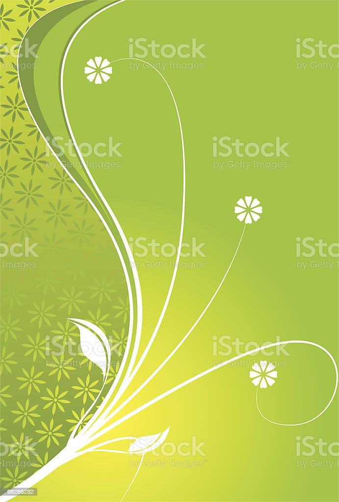 Green Floral Background royalty-free green floral background stock vector art & more images of abstract