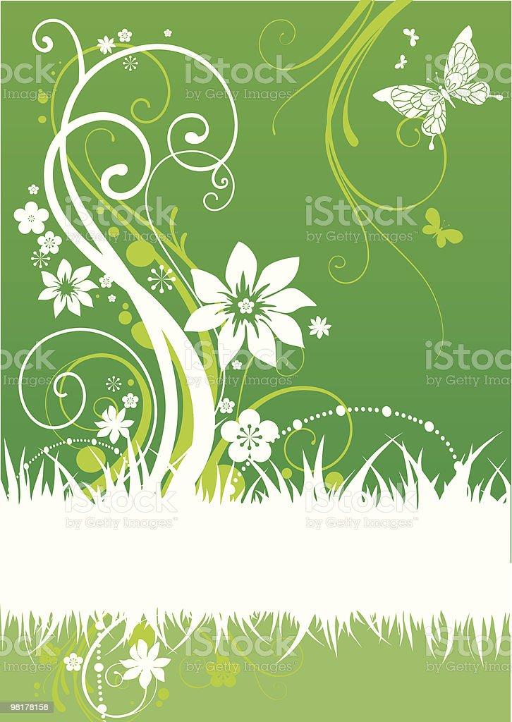 Motivo floreale verde motivo floreale verde - immagini vettoriali stock e altre immagini di astratto royalty-free