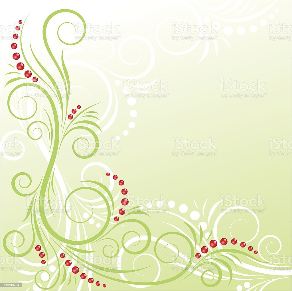 Green floral design with berries royalty-free green floral design with berries stock vector art & more images of abstract