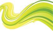 Green flowing design