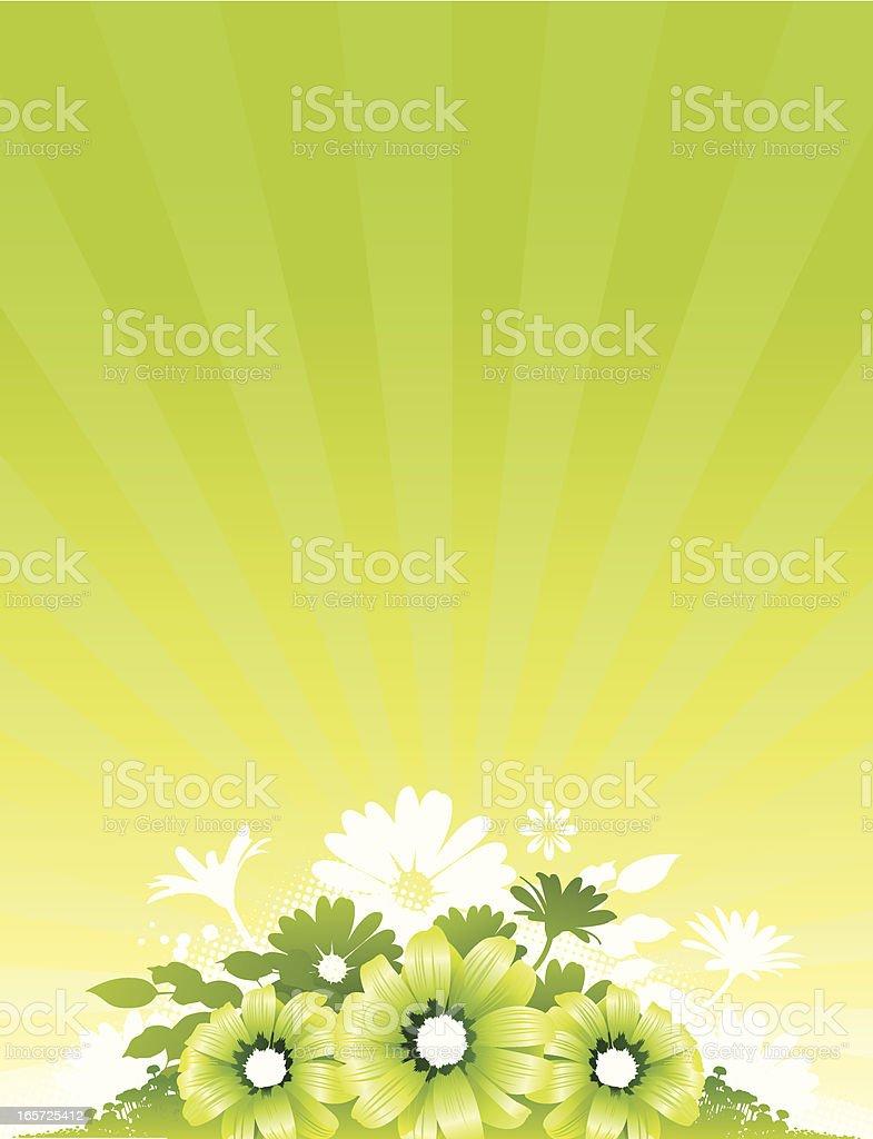 Green flower background royalty-free stock vector art