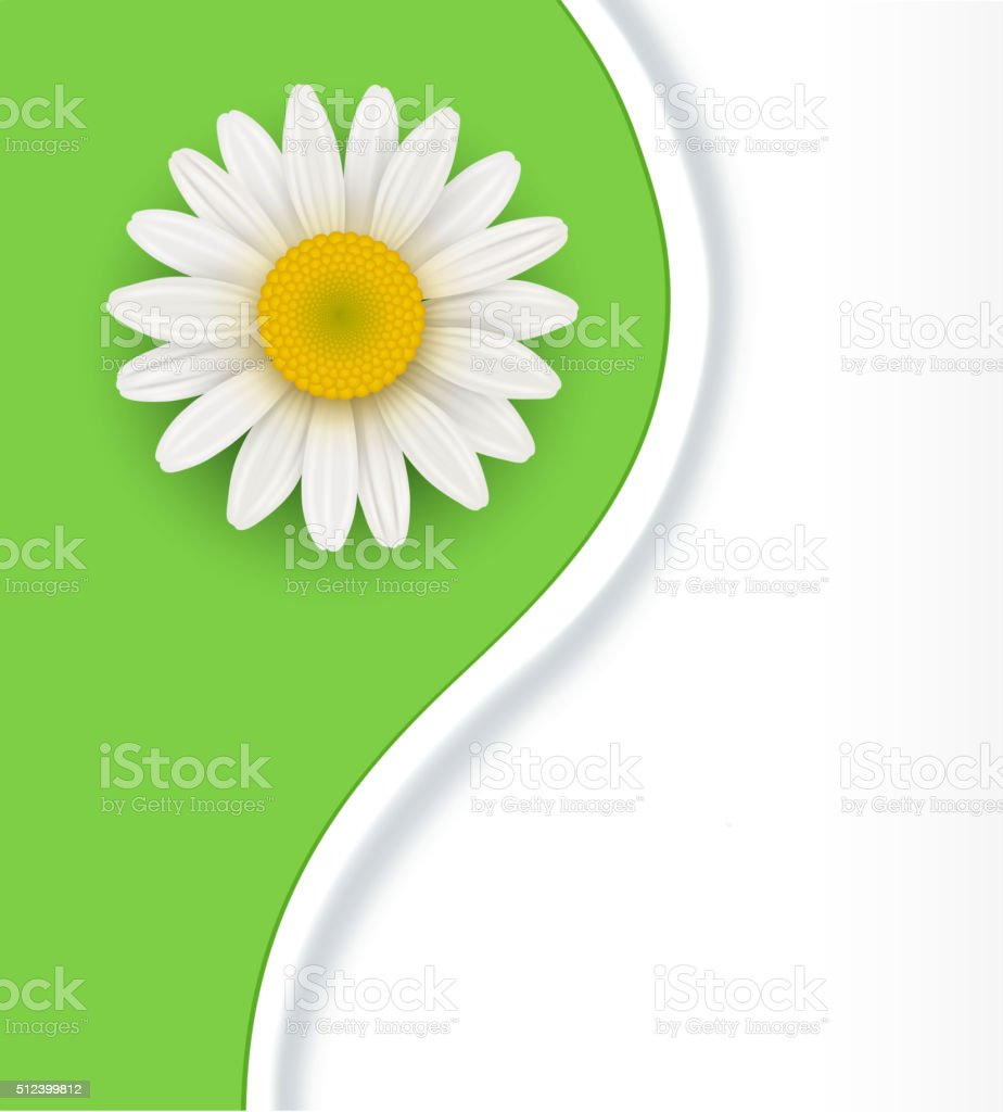 Green flower Background vector art illustration