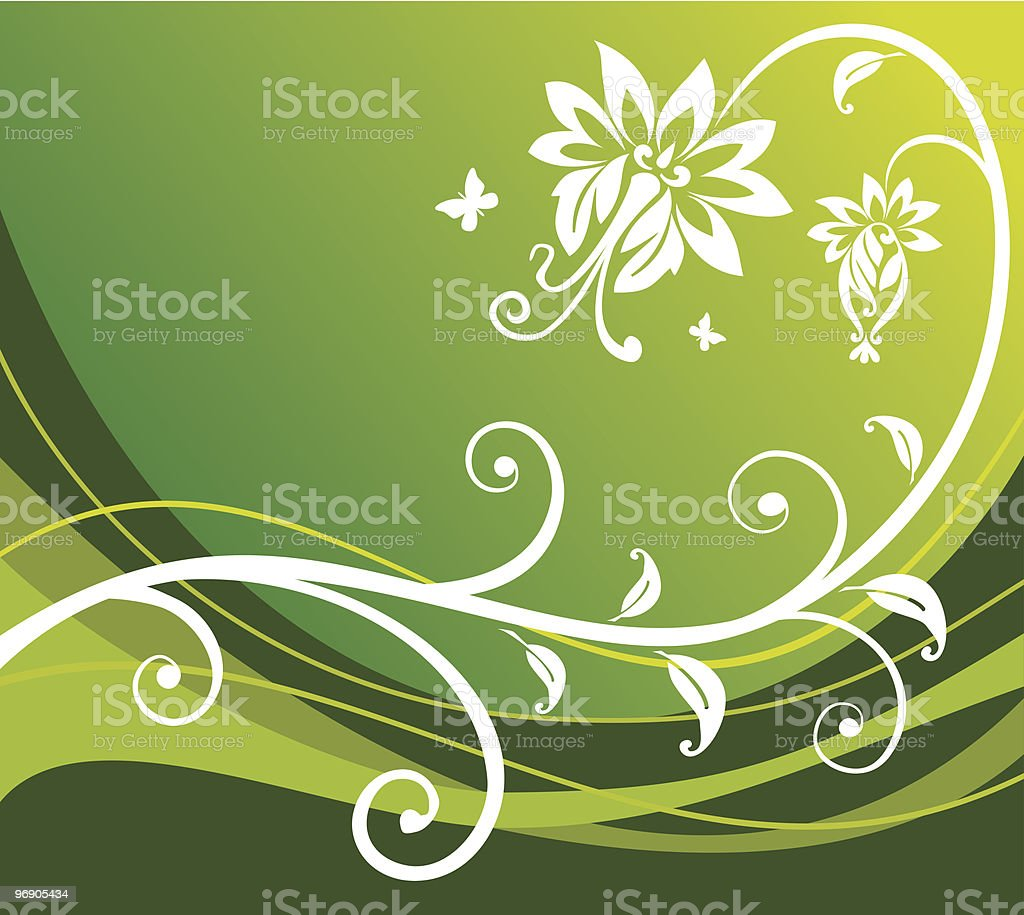 Green flower background royalty-free stock vector art