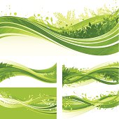 Green flowing splash backgrounds