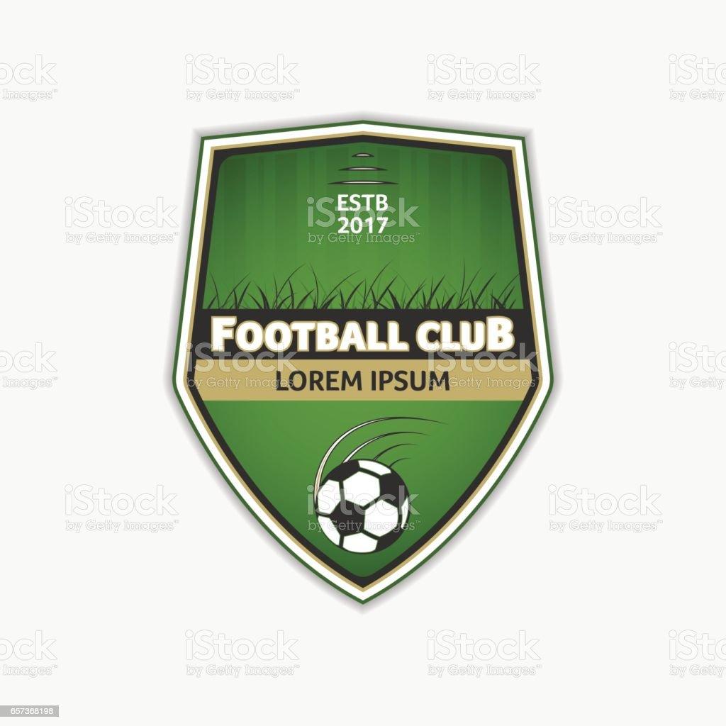 Plantilla de logotipo de fútbol verde. Logotipo de la fútbol. Diseño de  deporte de 303336c8b5b59