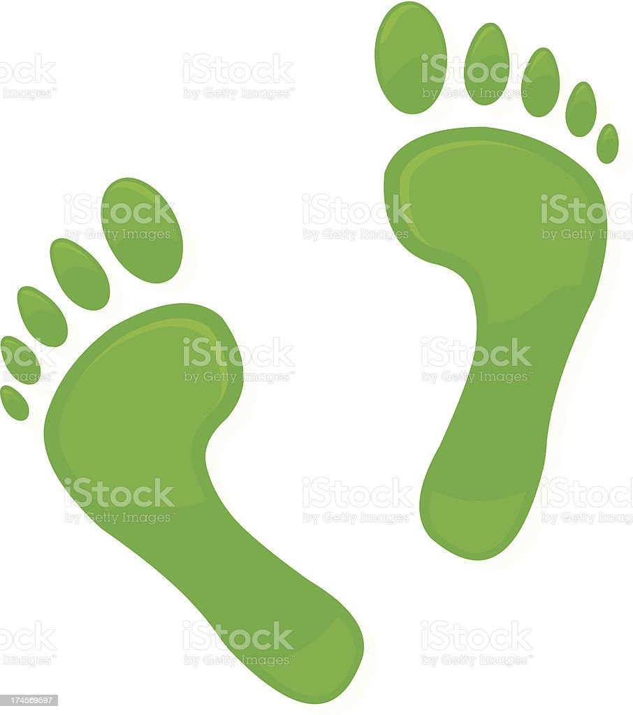 Green Footprint Icon royalty-free stock vector art