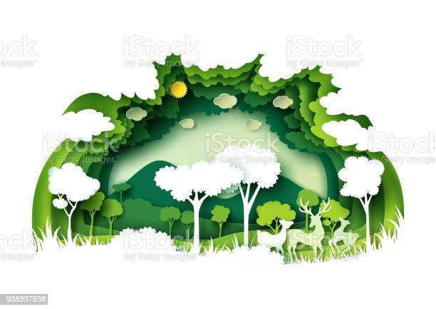 Green forest and wildlife with nature background layers paper art vector id938337938?b=1&k=6&m=938337938&s=612x612&h= psrpzd5tzlg7e m1 bnyiquocj6ycwmzrwh3fjh0c4=