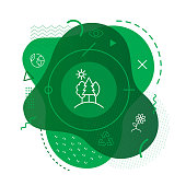 Green forest icon background