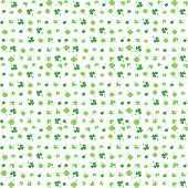 Green four and three leaf clover. Shamrock pattern for Happy Saint Patrick s day. Seamless background.