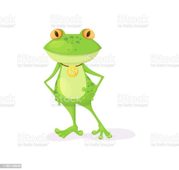 Green frog character cartoon vector illustration isolated vector id1193148948?b=1&k=6&m=1193148948&s=612x612&h=ib1bgpgd9xk38lsa4sg5ypy4oprbfkvp1rdfo463anu=