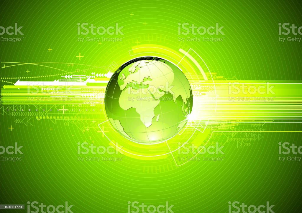 Green future, abstract hi-tech Background royalty-free stock vector art