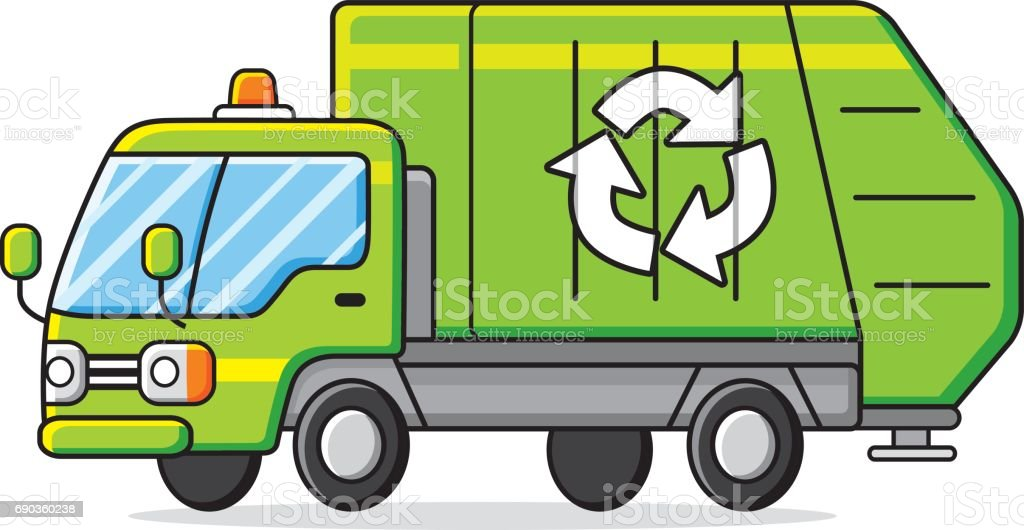 royalty free sanitation truck clip art vector images rh istockphoto com  garbage truck cartoon clip art