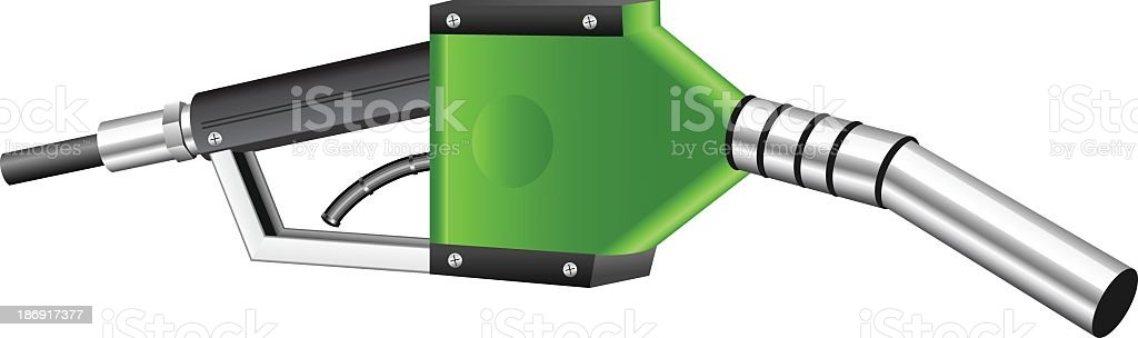 Green gas nozzle royalty-free stock vector art