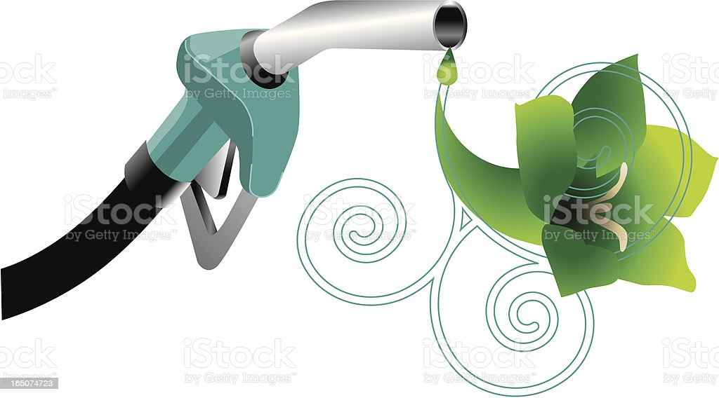 green gasoline royalty-free stock vector art