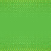 Green geometric halftone dot pattern background - graphic with circles in varying sizes