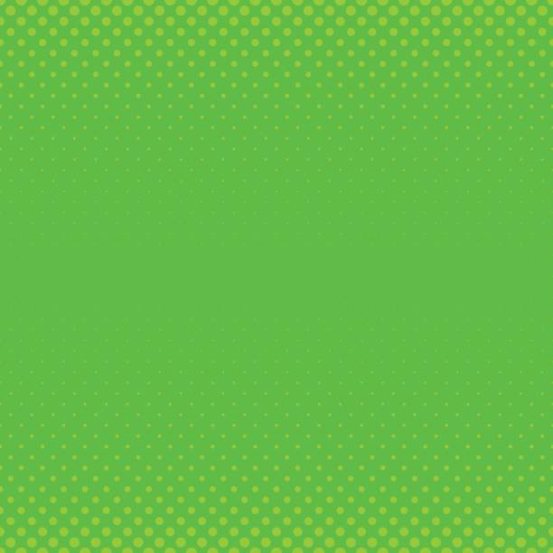 Green geometric halftone dot pattern background - graphic with circles in varying sizes vector art illustration