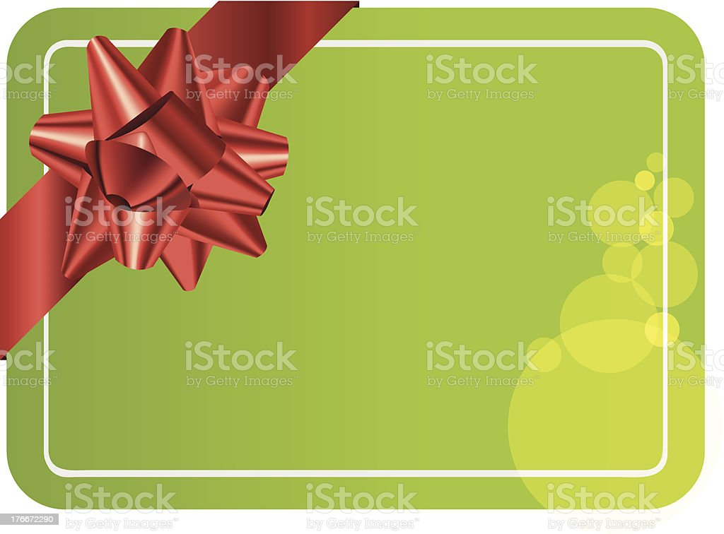 Green gift card royalty-free green gift card stock vector art & more images of blank