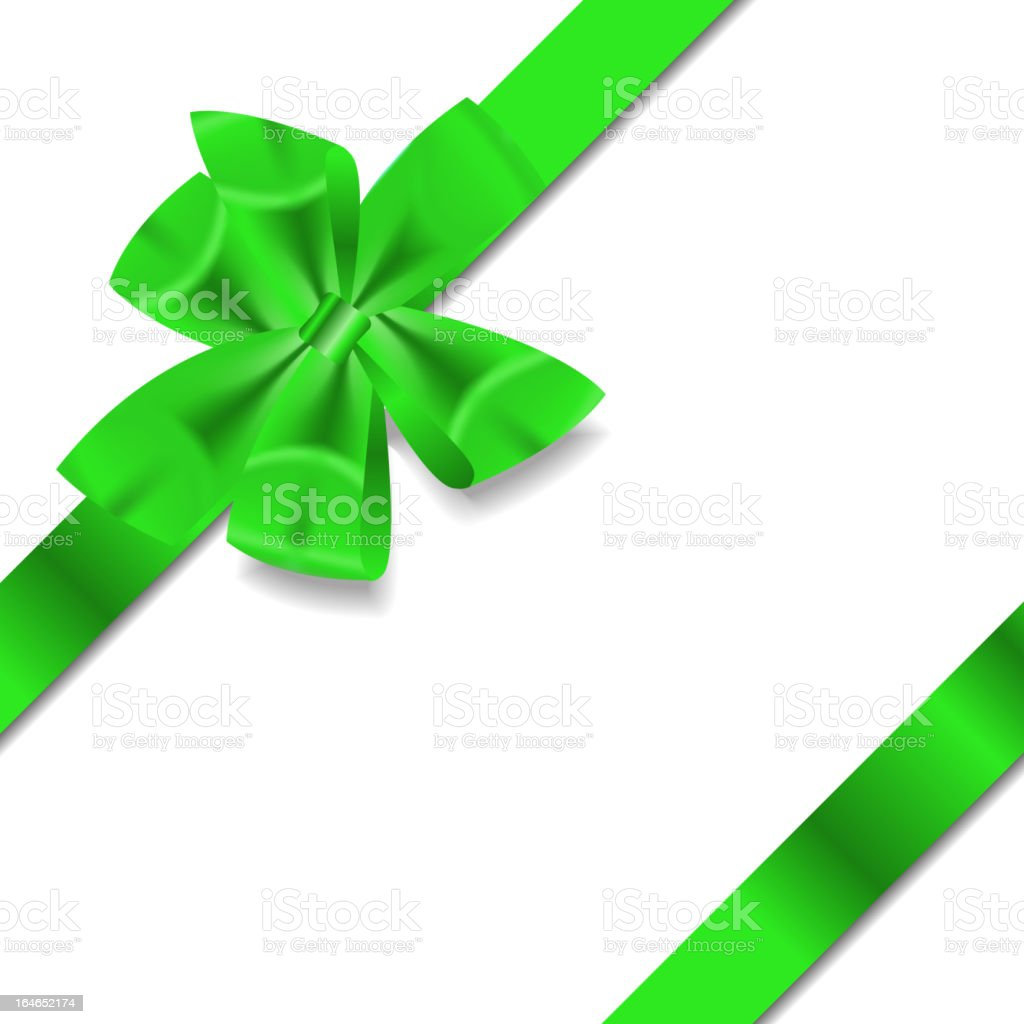 Green Gift Ribbon . Vector illustration vector art illustration