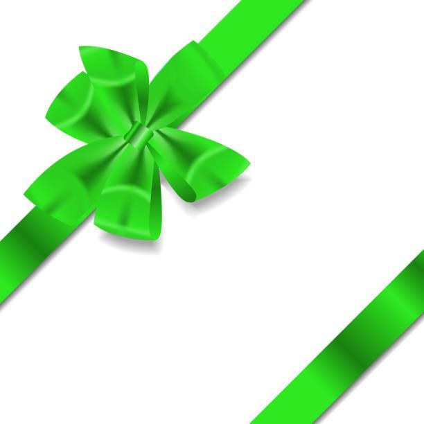 Green Gift Ribbon . Vector illustration vector art illustration