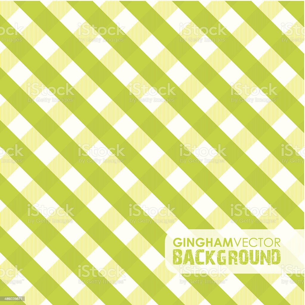 green gingham background vector art illustration