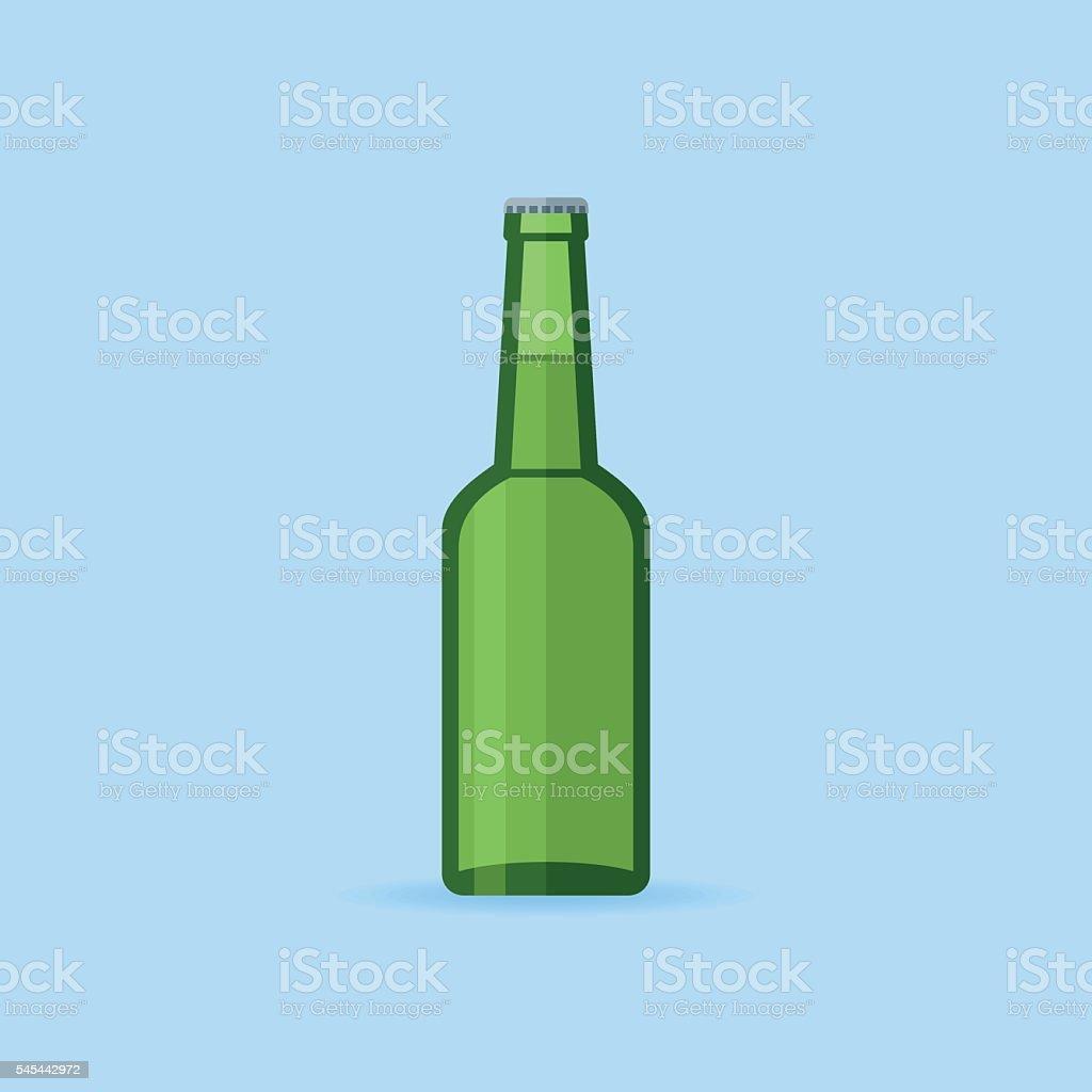 Green glass beer bottle – Vektorgrafik