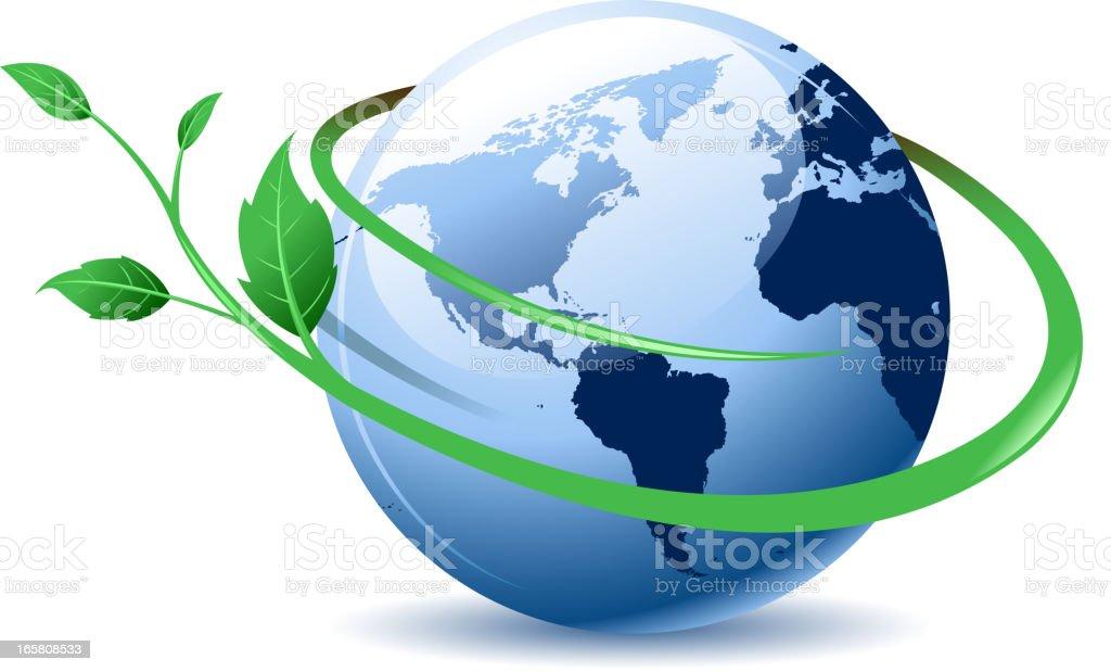 green globe symbol royalty-free stock vector art